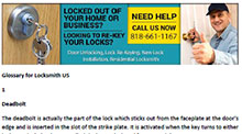 Glossary for Locksmith in La Crescenta  - Click here to download
